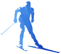 Watercolor Cross-country Skiing Sticker