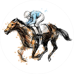 Watercolor Derby Horse Sticker