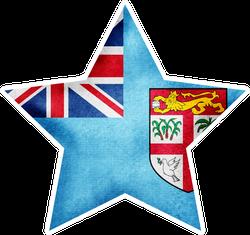 Watercolor Fiji Flag Star Sticker