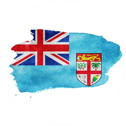 Watercolor Fiji Flag Sticker