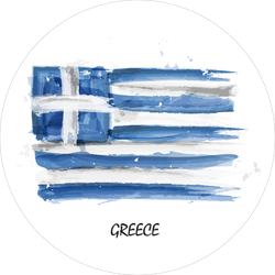 Watercolor Flag Of Greece Sticker