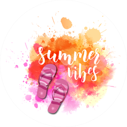 Watercolor Flip-flops And Summer Vibes Sticker