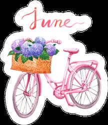 Watercolor Floral June Sticker