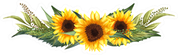 Watercolor Floral Wreath Of Sunflowers Sticker