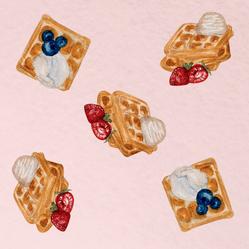 Watercolor Fruit Waffles Sticker