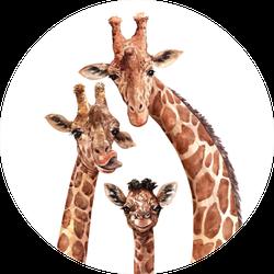 Watercolor Giraffe Family Sticker