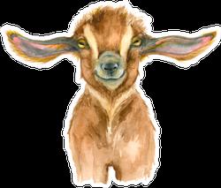 Watercolor Goat Head Cute Sticker