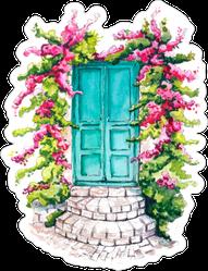 Watercolor Greek Door Sticker