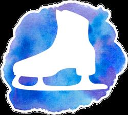 Watercolor Ice Skate Sticker