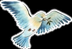 Watercolor Illustration Of A Bird Dove Sticker