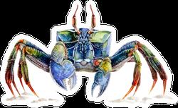 Watercolor Illustration Of A Sea Crab Sticker