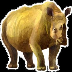 Rhinoceros Illustration Sticker