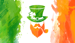 Watercolor Irish Flag With Leprechaun Sticker
