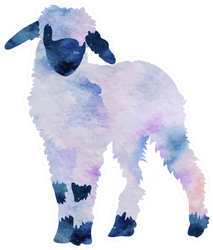 Watercolor Lamb Sticker
