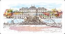 Watercolor Landmark Of Vienna, Austria's Capital Sticker