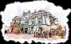 Watercolor Mexico City Sticker