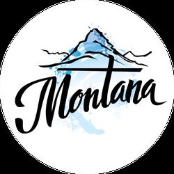 Watercolor Mountains Montana Sticker