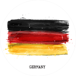Watercolor Painting Flag Of Germany Sticker