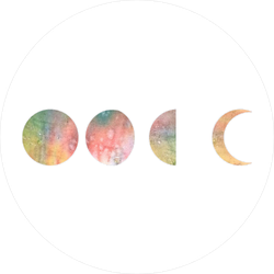 Watercolor Phases Of Moon Sticker