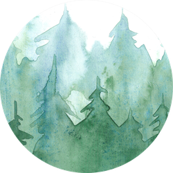 watercolor pine forest background green trees illustration sticker watercolor pine forest background green trees illustration sticker