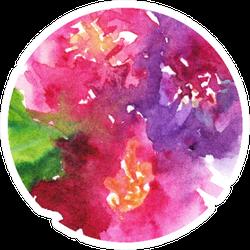 Watercolor Pink Purple Carnation Flower Floral Sticker