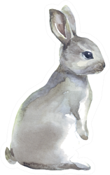 Watercolor Rabbit Hare Sticker