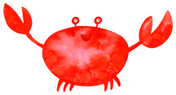 Watercolor Red Crab Sticker