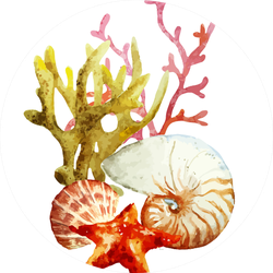 Watercolor Sea Elements Sticker