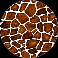 Watercolor Seamless Pattern With Giraffe Print Sticker