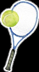 Watercolor Sketch Of Tennis Racquet Sticker