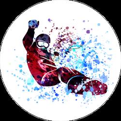 Watercolor Snowboarder Sticker