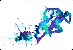 Watercolor Splatter Sprinter Sticker