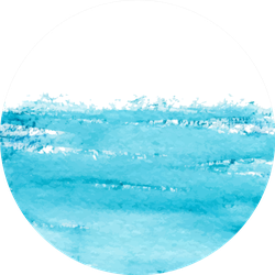 Watercolor, Surface Of The Water Sticker