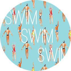 Watercolor Swimmer Men And Women Sticker