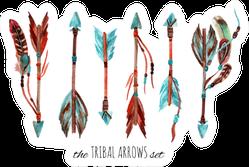 Watercolor Tribal Arrows Set Sticker