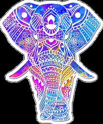 Watercolor Tribal Elephant Sticker