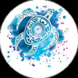 Watercolor Tribal Turtle Sticker