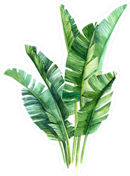 Watercolor Tropical Palm Leaves Sticker Each element was painted on watercolour paper.for creation of my watercolors i use only premium class products. watercolor tropical palm leaves sticker