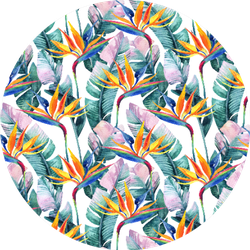 Watercolor Tropical Pattern With Bird Of Paradise Flower Sticker