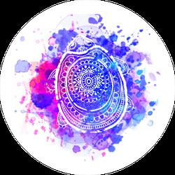 Watercolor Turtle Shell Sticker