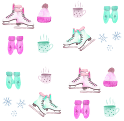 Watercolor Winter Cute Set Sticker
