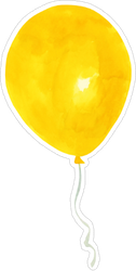Watercolor Yellow Balloon Sticker