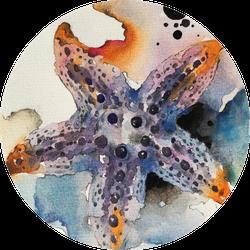 Watercolour Painting Of Starfish Sticker