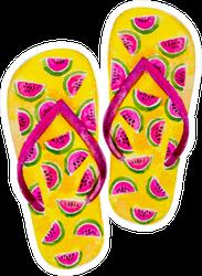 Watermelon Flip Flop Sticker