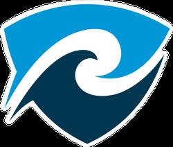 Wave Shield Sticker