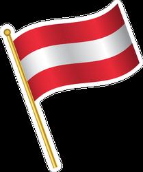 Waving Flag Of Austria Sticker