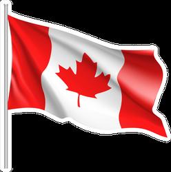 Waving Flag Of Canada Sticker