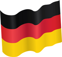 Waving German Flag Sticker