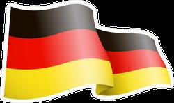 Waving Germany Flag Sticker