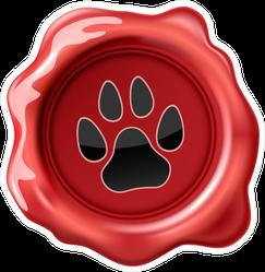Wax Seal Animal Paw Print Sticker